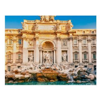Fuente del Trevi en la postal de Roma