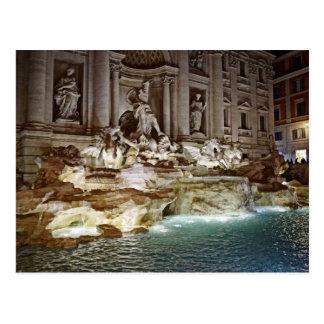 Fuente del Trevi - postal de Roma, Italia
