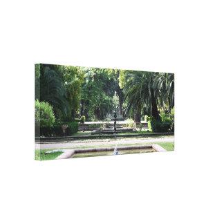 Fuente en Parque de Maria Luisa, en Sevilla Impresiones En Lienzo Estiradas