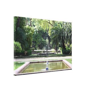 Fuente en Parque de Maria Luisa, en Sevilla Impresiones De Lienzo