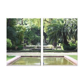 Fuente en Parque de Maria Luisa, en Sevilla Lienzo Envuelto Para Galerias