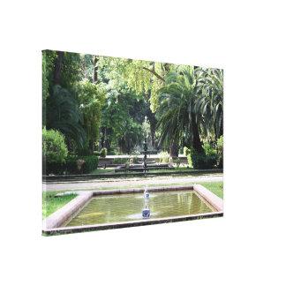 Fuente en Parque de Maria Luisa, en Sevilla Impresión En Tela