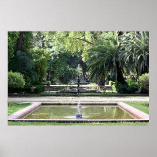 Fuente en Parque de Maria Luisa, en Sevilla Póster