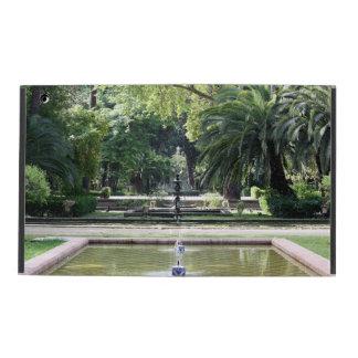 Fuente en Parque de María Luisa, Sevilla iPad Funda
