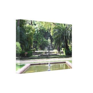 Fuente en Parque de María Luisa, Sevilla Impresión En Lienzo Estirada