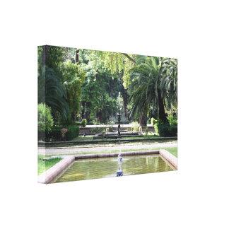 Fuente en Parque de María Luisa, Sevilla Lona Estirada Galerias