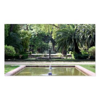 Fuente en Parque de María Luisa, Sevilla Tarjetas De Visita