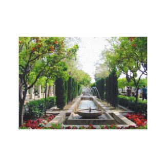 Fuente española del jardín lienzo