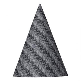 Fuente fina floral negra del fiesta de la textura gorro de fiesta