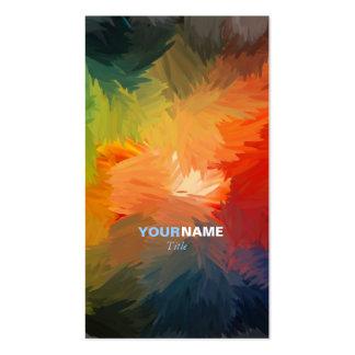 Fuente moderna tarjetas de visita