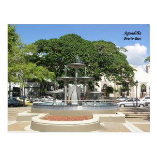 Fuente Plaza de Recreo Aguadilla Postal