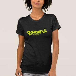 Fuente retra ridícula chartreuse elegante camisetas