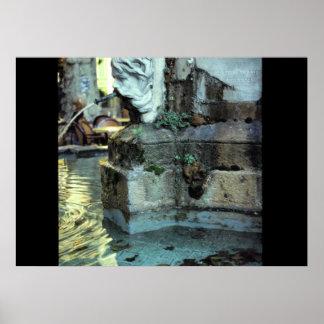 Fuente romana, Aix-en-Provence, Francia Póster