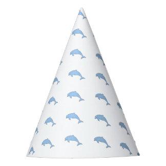 Fuentes azules del fiesta de los delfínes gorro de fiesta