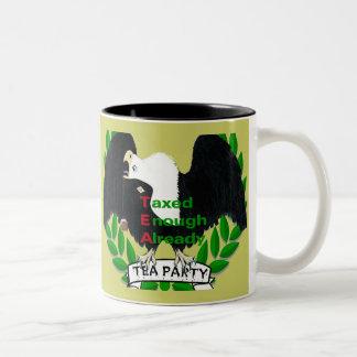 Fuentes de la fiesta del té taza de dos tonos