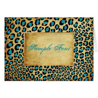 Fuentes del safari/leopard/DIY del vintage de PixD Tarjeton