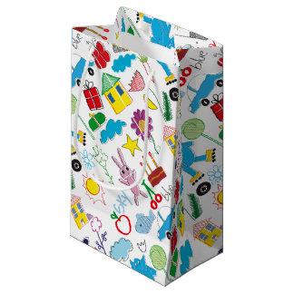 Fuentes lindas del fiesta del modelo de los bolsa de regalo pequeña