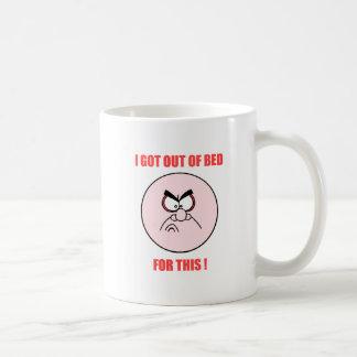 fuera de cama taza de café