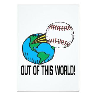 Fuera de este mundo invitación 12,7 x 17,8 cm