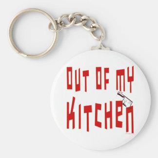 Fuera de mi decir de la cocina llavero redondo tipo chapa