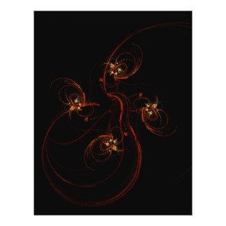Fuera del aviador oscuro del arte abstracto folleto 21,6 x 28 cm