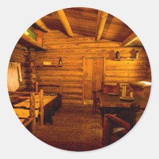 Fuerte Clatsop - Lewis y Clark de los cuartos de Pegatina Redonda