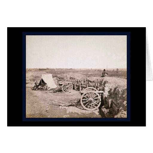 Fuerte confederado cerca de Atlanta, GA 1862 Felicitación