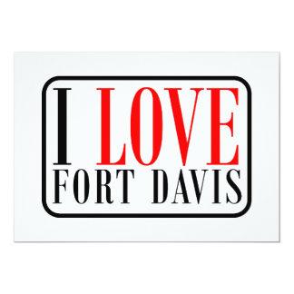 Fuerte Davis Alabama Invitación 12,7 X 17,8 Cm