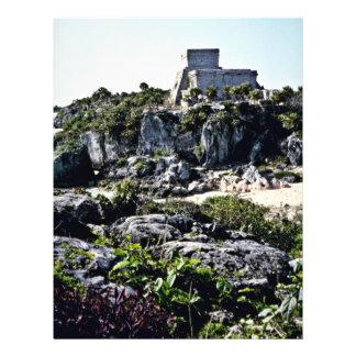 Fuerte del EL Castillo, Tulum Folleto 21,6 X 28 Cm