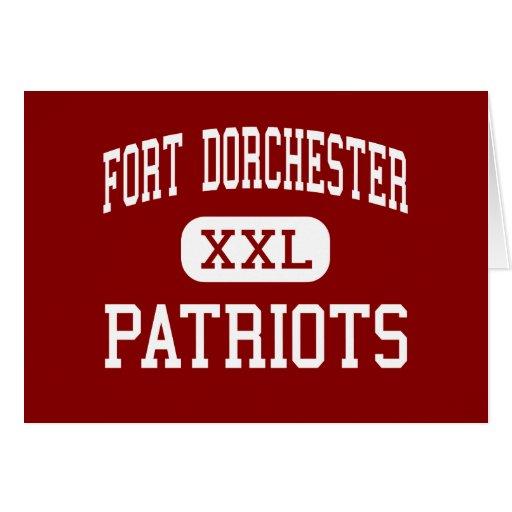 Fuerte Dorchester - patriotas - alta - Charleston Tarjeton