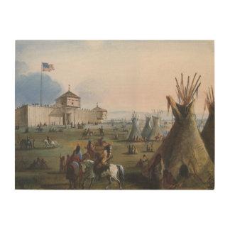 Fuerte Laramie, fuerte de Sublette, Fort William, Cuadros De Madera