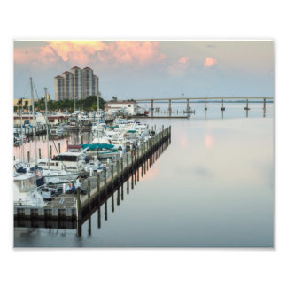 Fuerte Myers céntrico la Florida en la salida del Impresiones Fotográficas