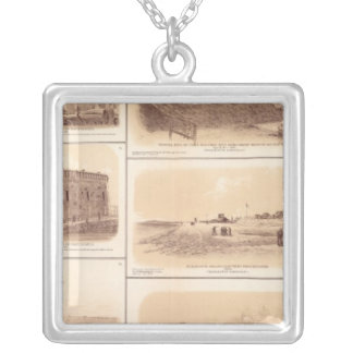 Fuertes Sumter y Moultrie, la isla de Sullivan Collar Plateado