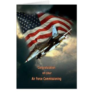 Fuerza aérea Comisión la tarjeta de felicitación
