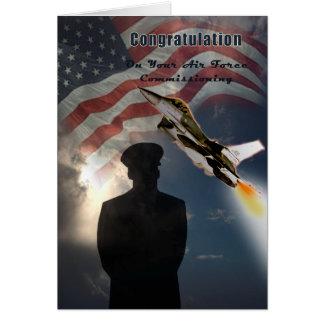 Fuerza aérea Comisión la tarjeta de la enhorabuena