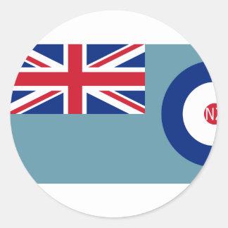 Fuerza aérea de Nueva Zelanda, bandera de Nueva Pegatina Redonda