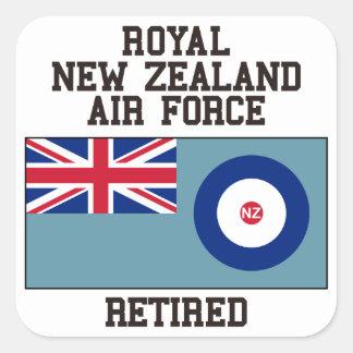 Fuerza aérea de Nueva Zelanda jubilada Pegatina Cuadrada