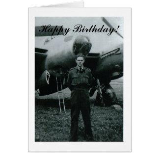 Fuerza aérea del feliz cumpleaños tarjeta pequeña