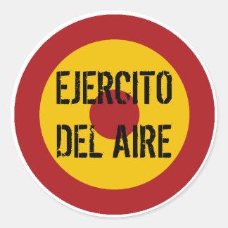 Fuerza aérea española Roundel Etiquetas Redondas