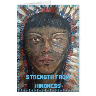 Fuerza de la amabilidad tarjeta de felicitación