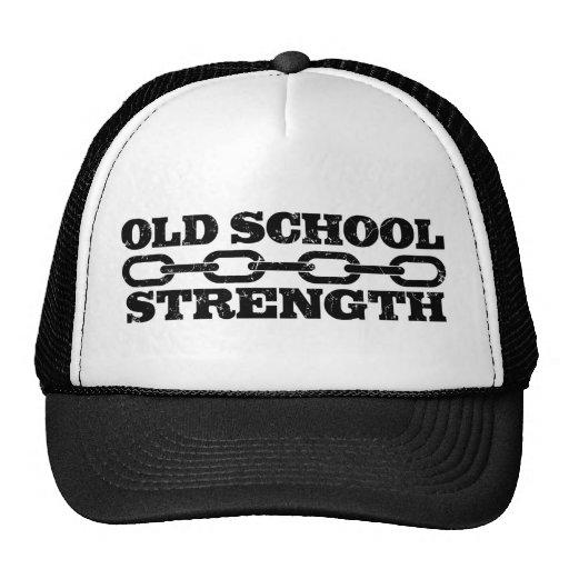 Fuerza de la escuela vieja gorros bordados