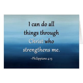 Fuerza de la tarjeta del estímulo de Cristo