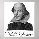 Fuerza de voluntad de William Shakespeare Póster