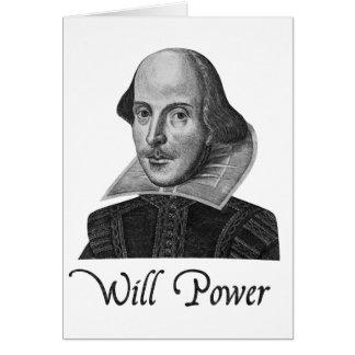Fuerza de voluntad de William Shakespeare Tarjeta