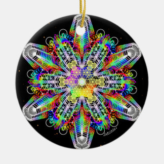 Fuerza/profundamente paz internas adorno navideño redondo de cerámica