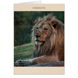 Fuerza y valor tarjeta de felicitación