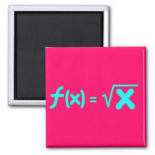 Función de raíz cuadrada - símbolos de la matemáti imán cuadrado