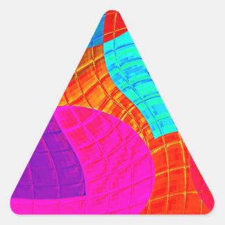 Función reconstruida f (x) calcomanías triangulos