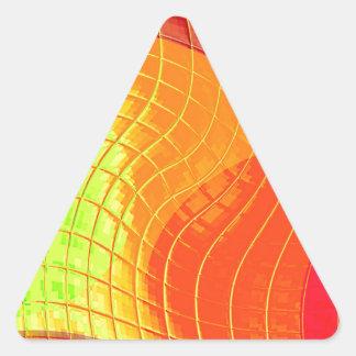 Función reconstruida f (x) pegatinas de triangulo personalizadas