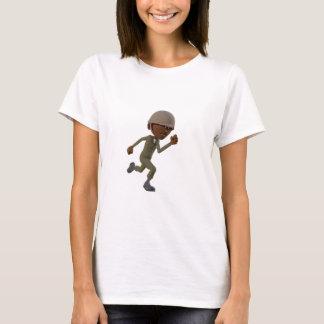 Funcionamiento afroamericano del soldado del camiseta